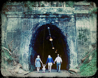 Fernleigh Tunnel, family fun photography, post processing